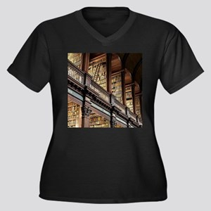 Classic Literary Library Books Plus Size T-Shirt