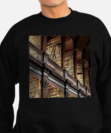 Classic Literary Library Books Sweatshirt (dark)