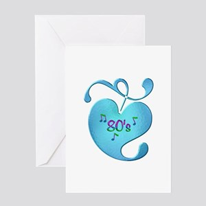 80s Music Love Greeting Cards