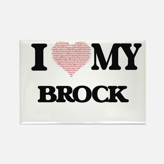 I Love my Brock (Heart Made from Love my w Magnets
