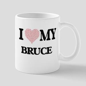 I Love my Bruce (Heart Made from Love my word Mugs