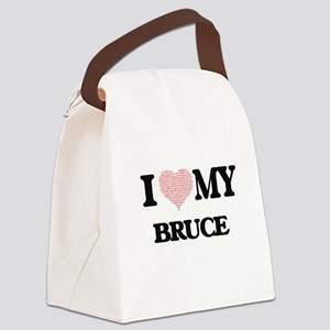 I Love my Bruce (Heart Made from Canvas Lunch Bag