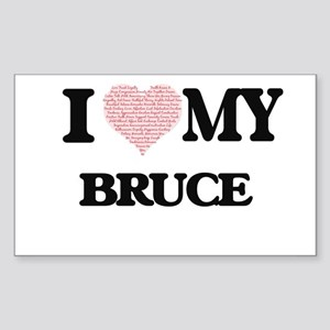 I Love my Bruce (Heart Made from Love my w Sticker