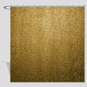GOLD PLASTIC Shower Curtain