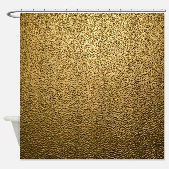GOLD PLASTIC Shower Curtain