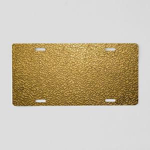 GOLD PLASTIC Aluminum License Plate