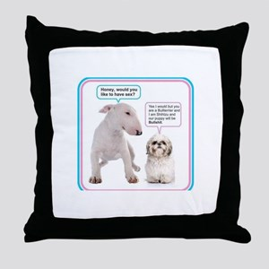 Dog humor Throw Pillow
