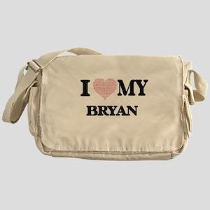 I Love my Bryan (Heart Made from Lov Messenger Bag