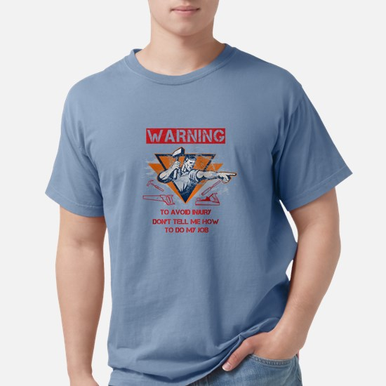 Woodworking Tshirt - Warning - to avoid injury, do