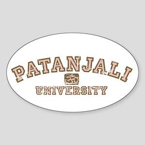 Pink/Brown Patanjali University Oval Sticker