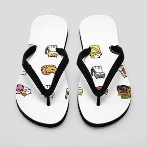 Neko Atsume Flip Flops