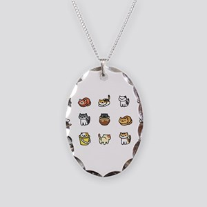 Neko Atsume Necklace Oval Charm