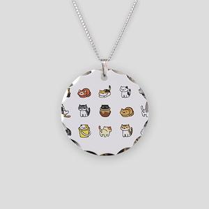 Neko Atsume Necklace Circle Charm