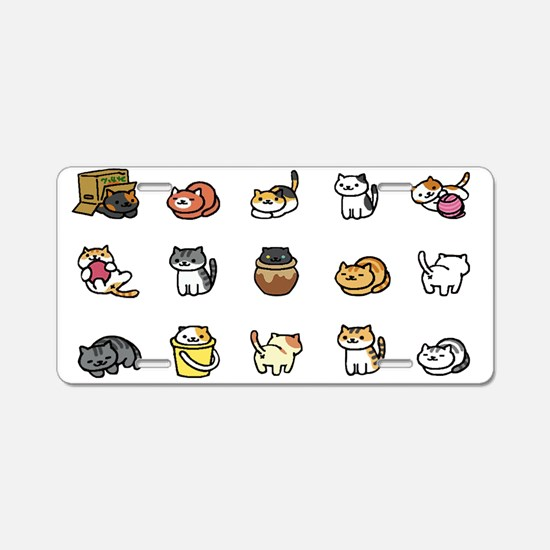 Neko Atsume Aluminum License Plate