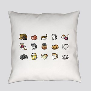 Neko Atsume Everyday Pillow