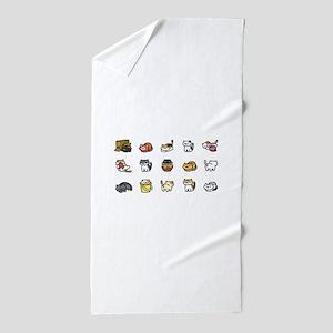 Neko Atsume Beach Towel
