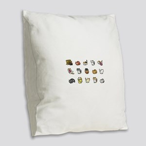Neko Atsume Burlap Throw Pillow