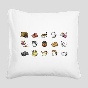 Neko Atsume Square Canvas Pillow