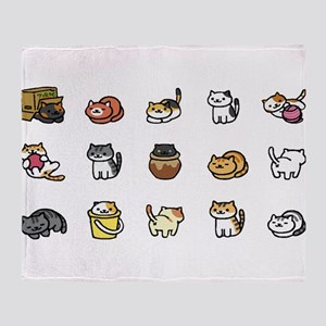Neko Atsume Throw Blanket