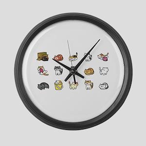 Neko Atsume Large Wall Clock