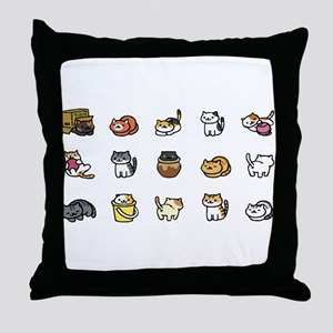 Neko Atsume Throw Pillow