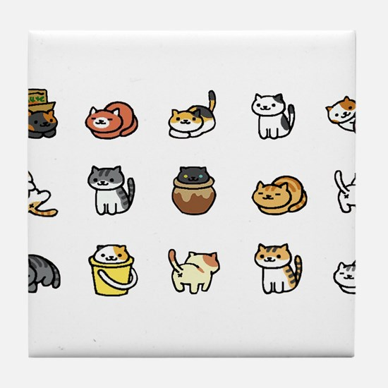 Neko Atsume Tile Coaster