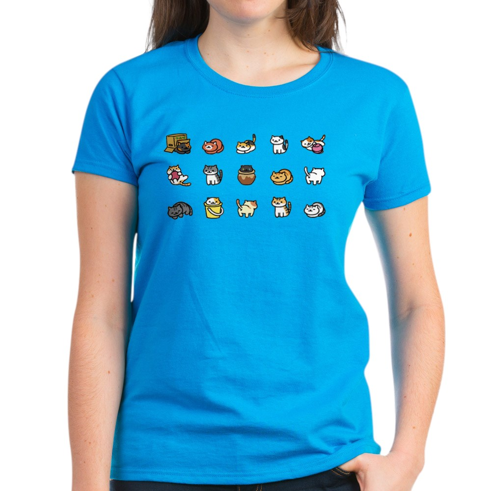 CafePress-Neko-Atsume-T-Shirt-Women-039-s-Cotton-T-Shirt-1712877248 thumbnail 16