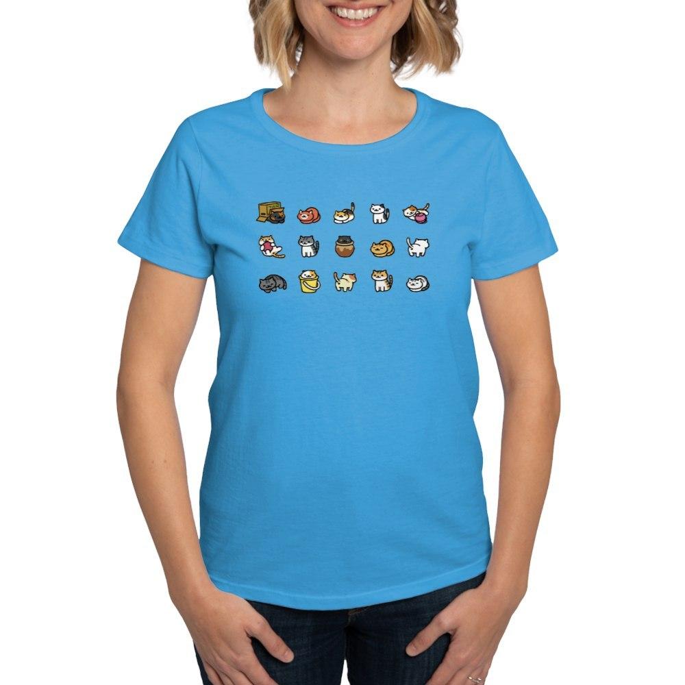 CafePress-Neko-Atsume-T-Shirt-Women-039-s-Cotton-T-Shirt-1712877248 thumbnail 19