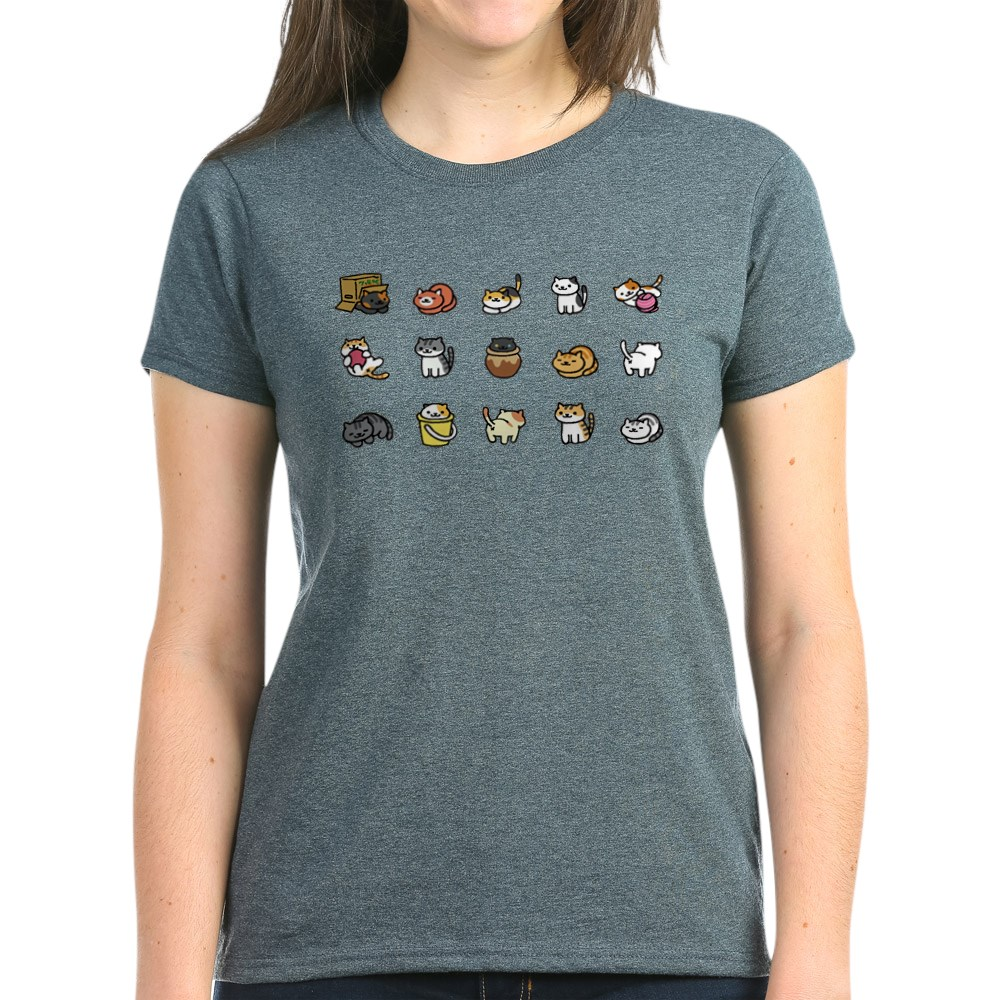 CafePress-Neko-Atsume-T-Shirt-Women-039-s-Cotton-T-Shirt-1712877248 thumbnail 23