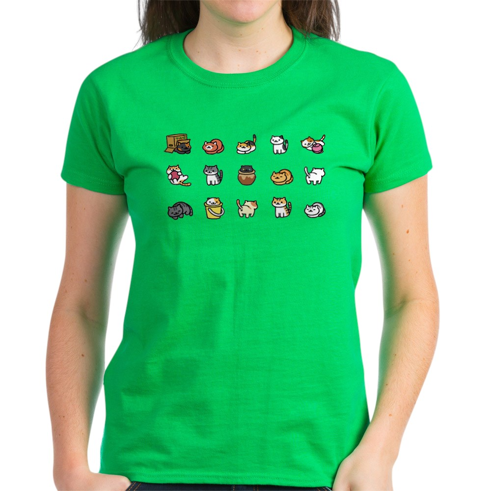 CafePress-Neko-Atsume-T-Shirt-Women-039-s-Cotton-T-Shirt-1712877248 thumbnail 37