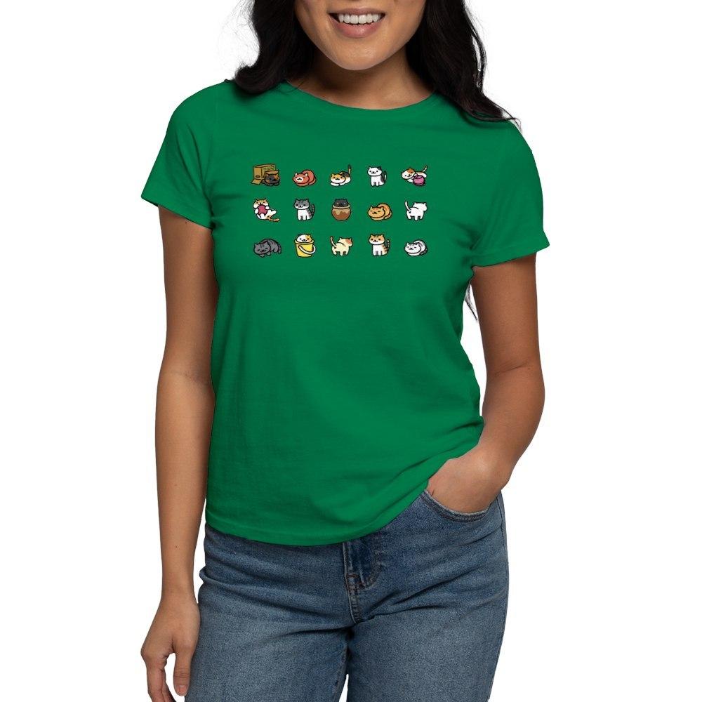 CafePress-Neko-Atsume-T-Shirt-Women-039-s-Cotton-T-Shirt-1712877248 thumbnail 34