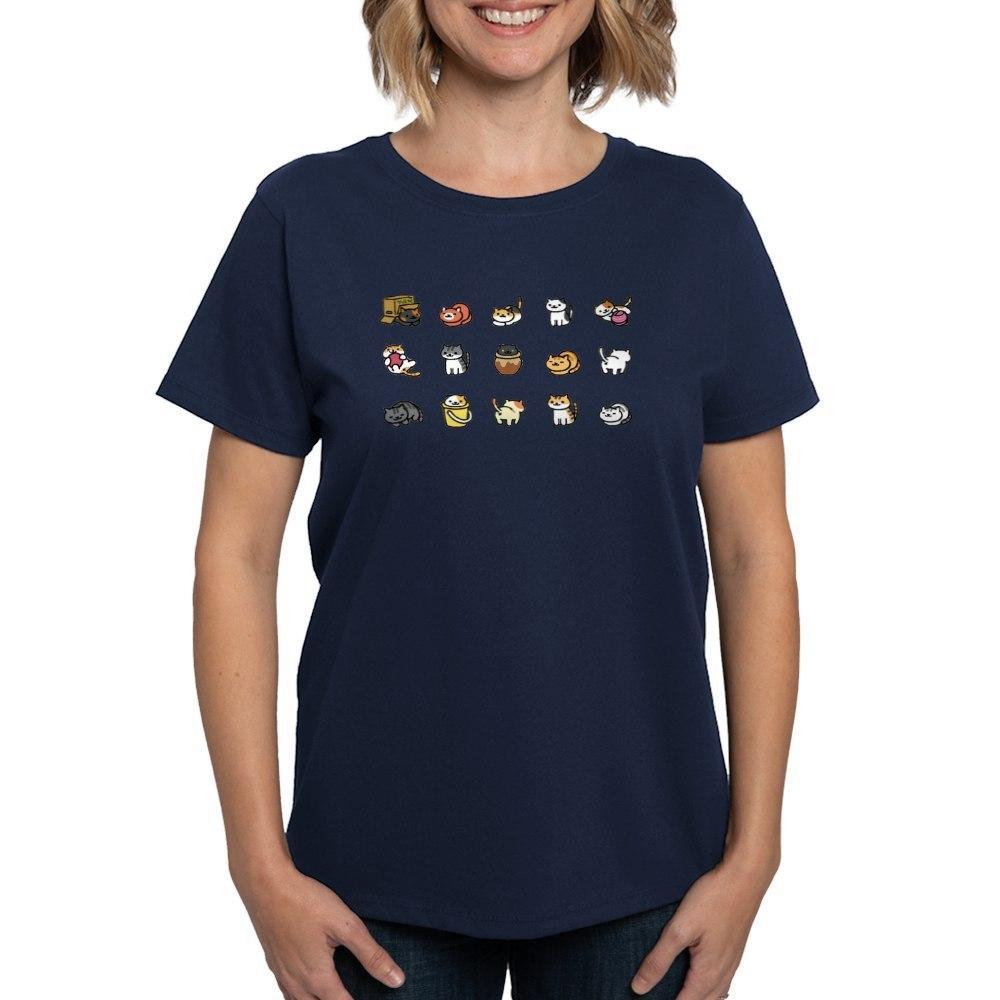 CafePress-Neko-Atsume-T-Shirt-Women-039-s-Cotton-T-Shirt-1712877248 thumbnail 46