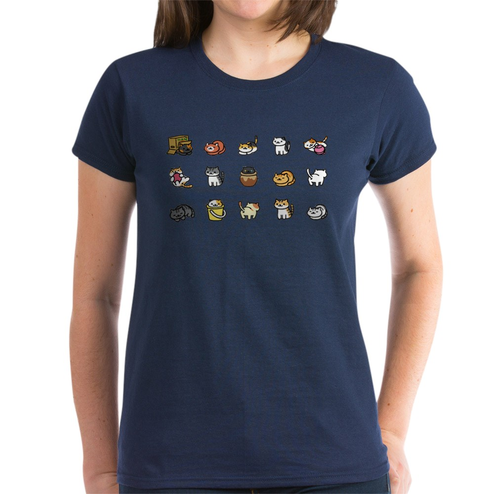 CafePress-Neko-Atsume-T-Shirt-Women-039-s-Cotton-T-Shirt-1712877248 thumbnail 44