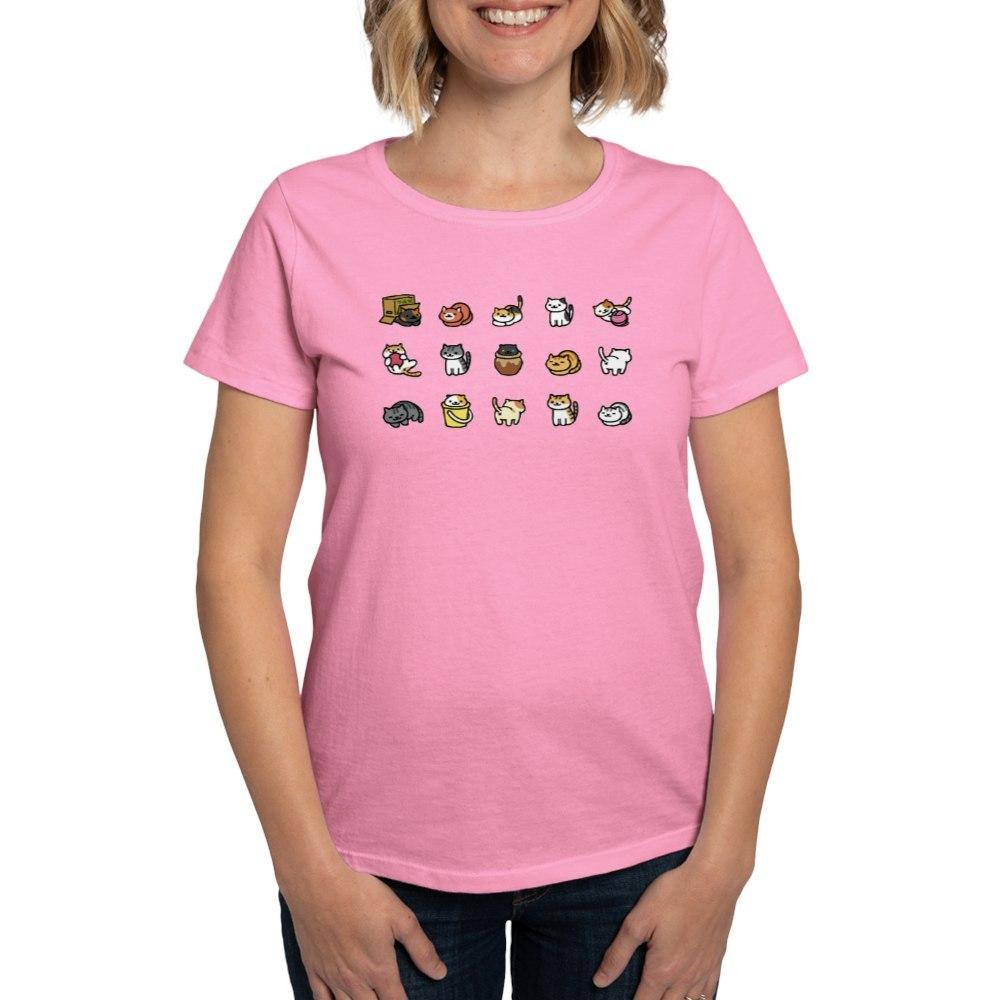 CafePress-Neko-Atsume-T-Shirt-Women-039-s-Cotton-T-Shirt-1712877248 thumbnail 58