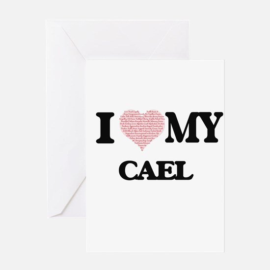 I Love my Cael (Heart Made from Lov Greeting Cards