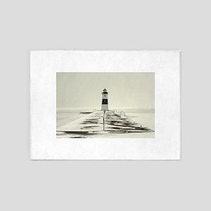 Lighthouse Whiteout 5'x7'Area Rug