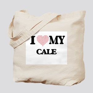I Love my Cale (Heart Made from Love my w Tote Bag