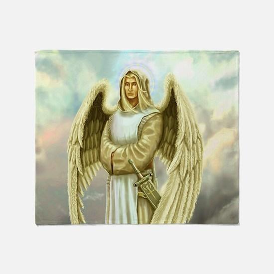 Cute Archangel michael Throw Blanket