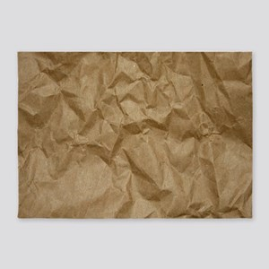 BROWN PAPER 5'x7'Area Rug