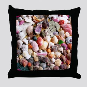 COLORFUL SEA SHELLS Throw Pillow