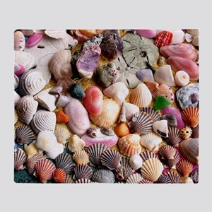 COLORFUL SEA SHELLS Throw Blanket