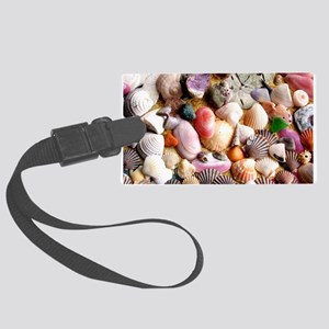 COLORFUL SEA SHELLS Large Luggage Tag