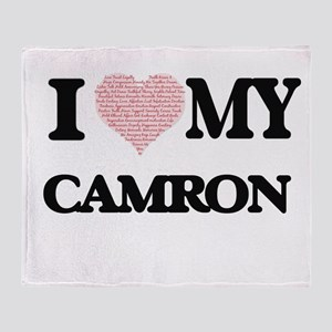 I Love my Camron (Heart Made from Lo Throw Blanket