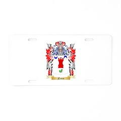 Nevin Aluminum License Plate