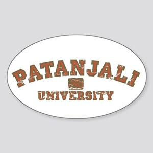 Red/Brown Patanjali University Oval Sticker