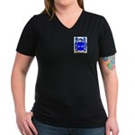 Nethergate Women's V-Neck Dark T-Shirt
