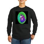 Unicorn Portrait Long Sleeve Dark T-Shirt