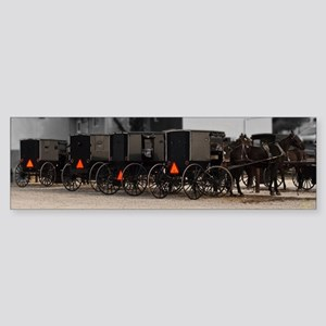 Amish Buggy Parking lot Bumper Sticker