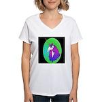 Unicorn Portrait Women's V-Neck T-Shirt