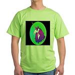 Unicorn Portrait Green T-Shirt